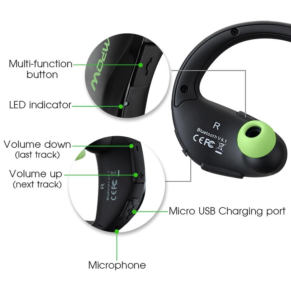 2 Mpow Cheetah MBH6 Bluetooth Earphones Pakistan brandtech.pk