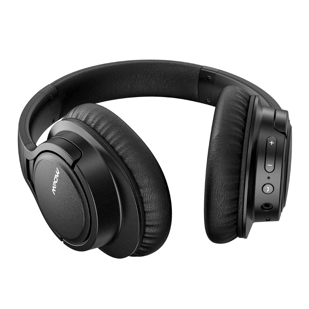 Mpow H7 Bluetooth Headphones Over Ear, Comfortable Wireless Headphones, Rechargeable HiFi Stereo Headset, w/Wired Mode, CVC6.0 Microphone – Black